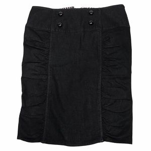Boom boom jeans black ruched pencil skirt